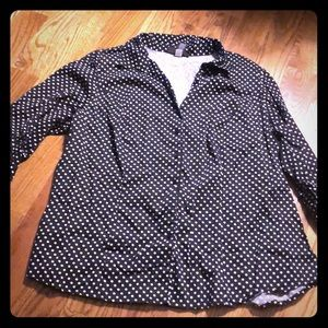 Lane Bryant polka dot blouse